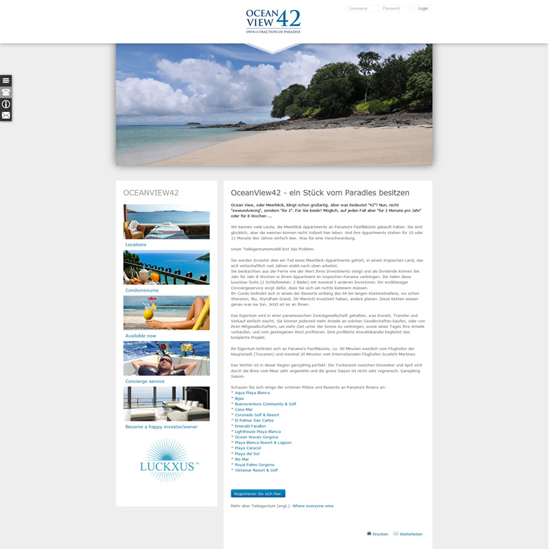 luckxus ocean-view42 website