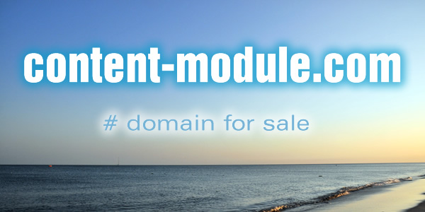 Domain Name for Sale: content-module.com