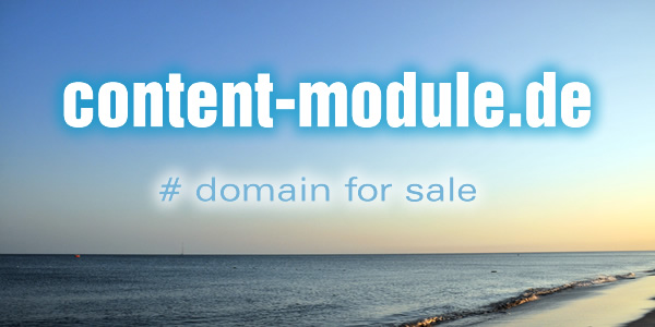 Domain Name for Sale: content-module.de