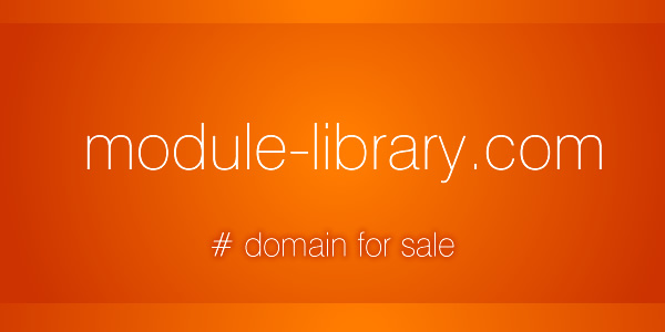 Domain Name for Sale: module-library.com