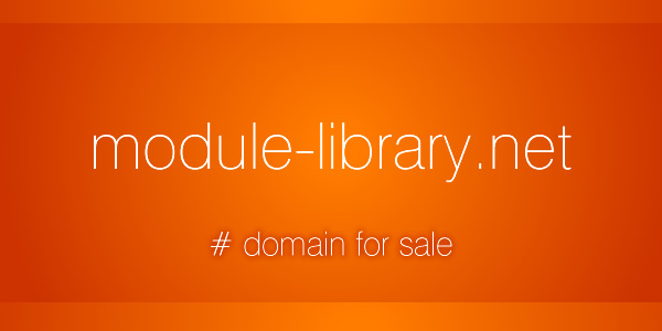 Domain Name for Sale: module-library.net