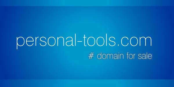 Domain Name for Sale: personal-tools.com